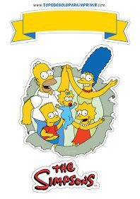 Topo De Bolo Os Simpsons Para Imprimir Simpsons Party The Simpsons Homer Simpson