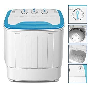 4 Ever Portable Mini Compact Washing Machine Twin Tub Washer And Spinner Dryer Combo 17lbs For Dorms Apartmen Portable Washing Machine Twin Tub Washing Machine