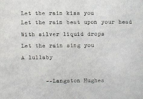 This is part of the beautiful poem – April Rain Song by Langston Hughes. Written on an antique Underwood Typewriter. It is written on a beautiful