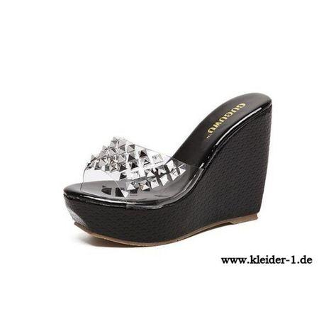 Damenschuhe Leder Sommer Slip-Ons & Loafers Komfort Sandalen Flache Ferse Schnalle für Casual Schwarz Weiß