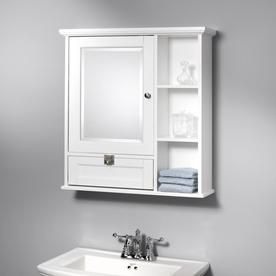 Home2o Anwyn 26 In X 28 In Rectangle Surface Mirrored Medicine