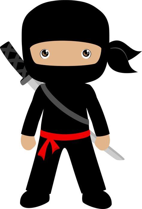 ninja clipart set personal and limited commercial cute boy ninjas rh pinterest com Ninja Clip Art Black and White SVG Ninja