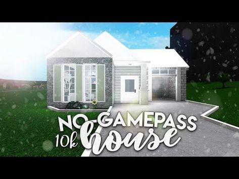 Roblox Bloxburg 10k No Gamepass House House Build Youtube