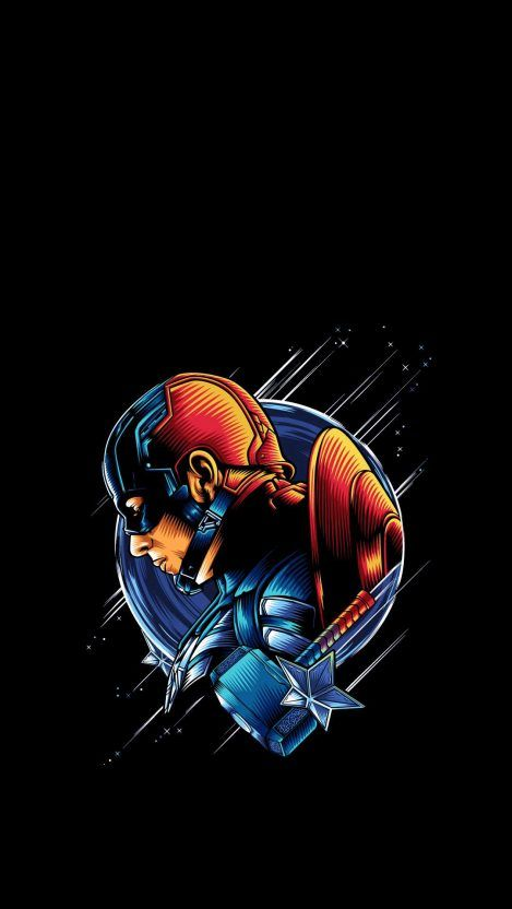 Captain America Simple Artwork Iphone Wallpaper Free In 2020
