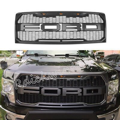 2009 2010 2011 2014 Ford F 150 Front Bumper Hood Grille Gray Sport W F R Letters Ford F150 Accessories Ford F150 2014 Ford F150