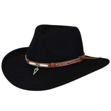 Black Revive Online Wool Fifties//Sixties Style Pork Pie Hat