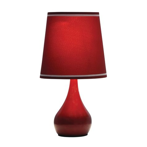 Mini Table Touch Lamp Burgundy Red Touch Table Lamps Touch Lamp Lamp