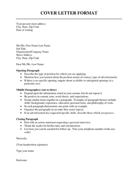 cover letter best resumes format for sample standard template - how to organize your resume
