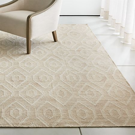 Polina Natural Art Deco Rug 8 X10 Reviews Crate And Barrel Neutral Rugs Area Rug Dining Room Rugs