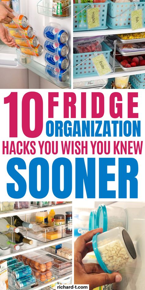 Organize your fridge in a genius way with these 10 clever fridge organization hacks! 10 Clever fridge organization ideas your home needs today! These fridge organization hacks are pure genius, and actually work!
