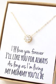 Gold Solitaire Necklace Cubic Zirconia Cz Diamond Tiny Flower Dainty Delicate Mother Of The Bride Gift Jewelry S2