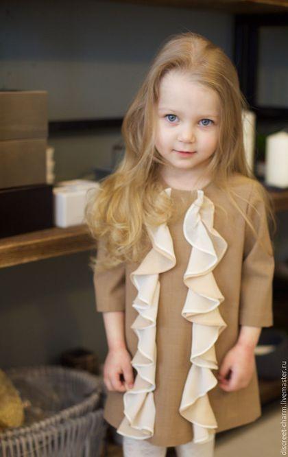 ed7080826a53882 Одежда для девочек, ручной работы. Ярмарка Мастеров - ручная работа. Купить  Бежевое детское