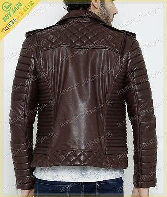 Mens Leather Jacket Stylish Genuine Lambskin MJ03