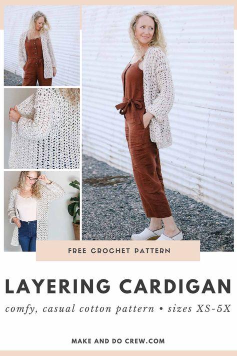 Simple Crochet Jacket - Free Pattern » Make & Do Crew