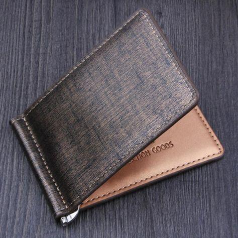 Luxury Men Business PU Leather Purse Bifold Wallet ID Credit Card Holder Wallet