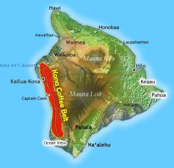 Kona Coffee Farms Map kona coffee belt   Kona Coffee Belt Map   coffee coffee coffee