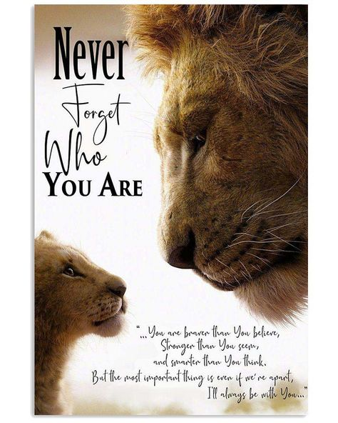 Nowadays, Lion King never forget who you are poster help customers to . - Nowadays, Lion King never forget who you are poster help customers to … – – -