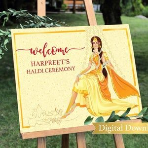 Indian Wedding Sign marigold Henna Party Mehndi Signs for Indian Mendhi Welcome Signage Marigold Welcome Signs for Indian Welcome sign