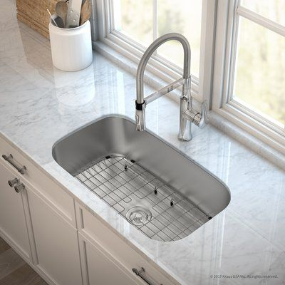 Kraus Outlast Microshield Stainless Steel Real 16 Gauge 31 5 X 18 38 Undermount Kitchen Si Commercial Kitchen Faucet Undermount Kitchen Sinks Tuscan Kitchen