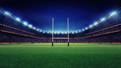 Huge Rugby Stadium With Fans And Green Grass Affiliate Stadium Rugby Huge Grass Green Ad South African Rugby Rugby Stadium