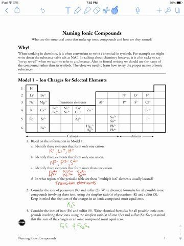 50 Naming Ionic Compounds Worksheet Answers In 2020 Ionic