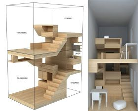 Una casa en el jardín, un mueble de madera habitado|Espacios en madera