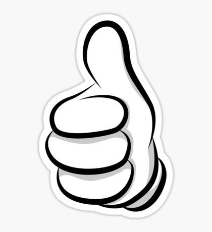 Mickey Swag Stickers Thumbs Up Icon Hand Sticker Thumbs Up Drawing