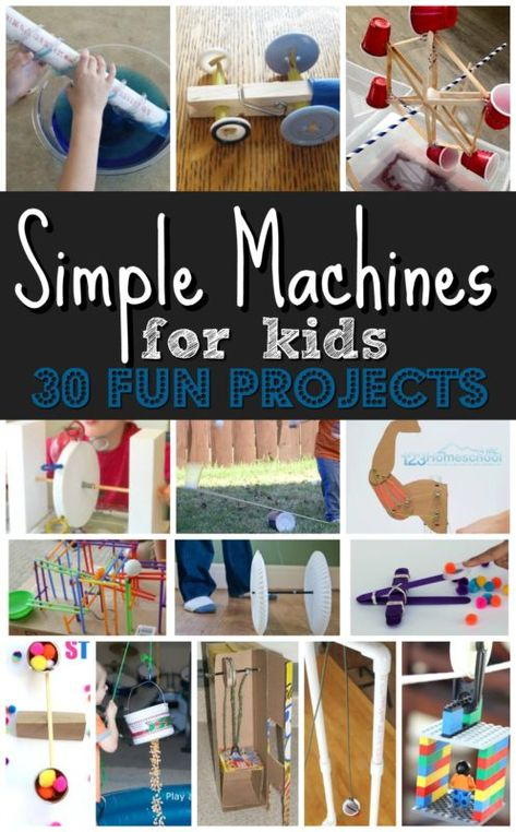 30 EPIC projects to explore simple machines for kids! These are such fun, hands … 30 EPIC projects to explore simple machines for kids! These are such fun, hands on science projects for kids of all ages Science Projects For Kids, Science For Kids, Science Fun, Projects For School, Project For Kids, Science Penguin, Stem For Kids, Class Projects, Science Classroom