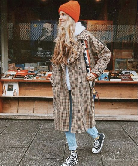 💥 Flamingo Vintage Plaid Double Breasted Woolen Coat