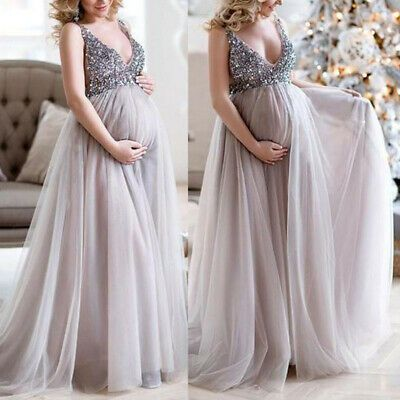 Advertisement Ebay Women Maternity Pregnant Dress Sleeveless Long Maxi A Line Laye In 2020 Maternity Dresses Photography Dresses For Pregnant Women Maternity Dresses