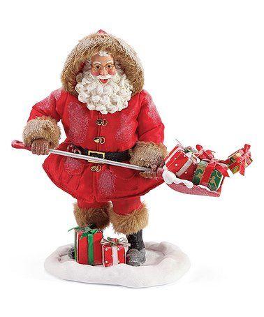 Light Skin Tone Shovel Loads Of Gifts Santa Figurine Zulily Zulilyfinds Santa Figurines Santa Claus Is Coming To Town Santa