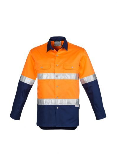 With A 100 Percent Cotton Twill Construction And Mesh Vent Inserts The Men S Hi Vis Spliced Hoop T Cotton Long Sleeve Shirt Work Wear Women Long Sleeve Shirts
