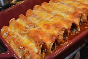 Easy Beef Enchiladas The Cookin Chicks Recipe Easy Beef Enchiladas Food Recipes