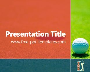 12 best sport powerpoint templates images on pinterest pga powerpoint template is a red template with appropriate background image of golf course and golf toneelgroepblik Gallery