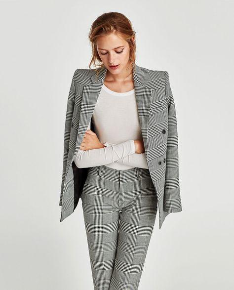 pantalones rectos mujer zara