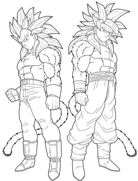 Dragon Ball Vegeta And Goku Transforms Into A Super Saiyan 4