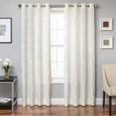 Beverly 108 Inch Window Curtain Panel In Bone With Images