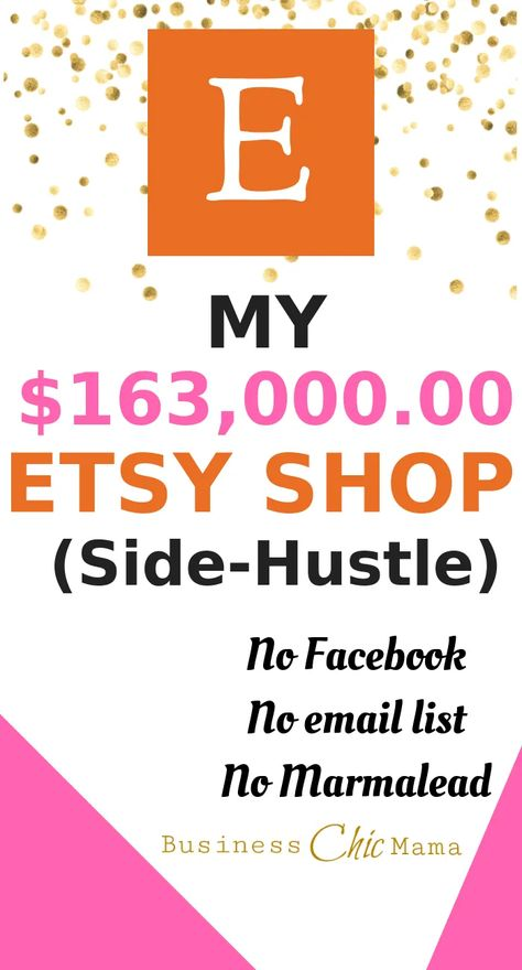 My $163,000 Etsy Side-Hustle Shop   Business Chic Mama