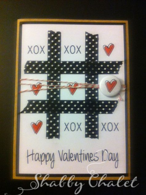 Shabby Chalet Studio 17: Valentine Day Card Tic Tac Toe