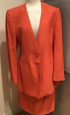 Austin Reed Ladies Suit Jacket Skirt Size 12 Orange Suits For Women Suits Women