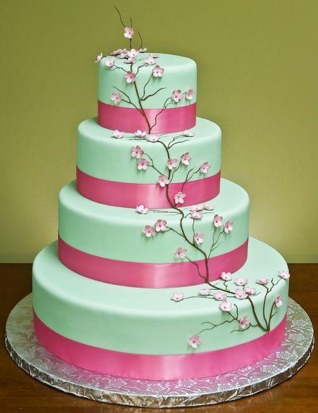 I think I want a teal wedding cake!