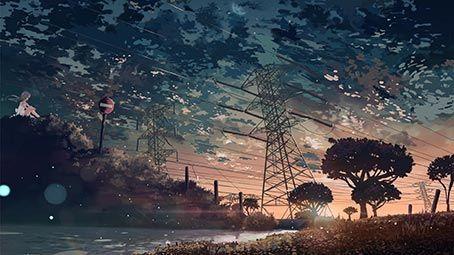 Anime Wallpaper Slideshow Anime Landscapes Theme For Windows 10 8 7 All Charac 4k Landscape Wallpaper Aesthetic Desktop Wallpaper Scenery Wallpaper