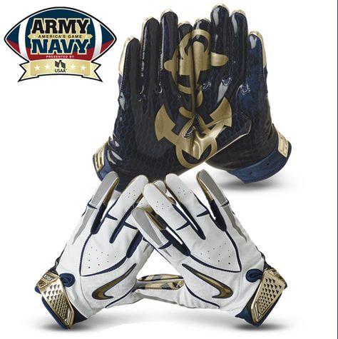 Nike Navy Rivalry Football Gloves Navy football, Cool