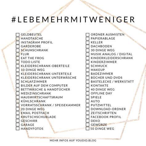 #LebeMehrMitWeniger Challenge - denn weniger befreit - Youdid