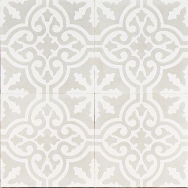 Light Grey Moroccan Bazaar Reproduction Tile