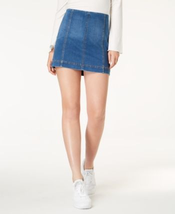 Tinseltown Juniors' Denim Mini Skirt Blue 13 | Denim mini