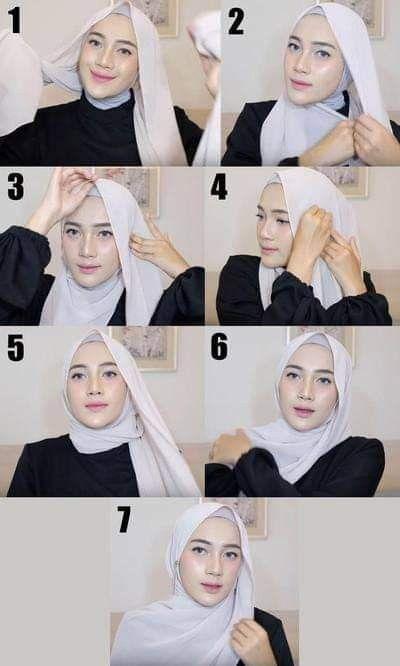 Ootd Hijab Casual Remaja Simple Kopftucher Kopftuch Kopftuch Binden