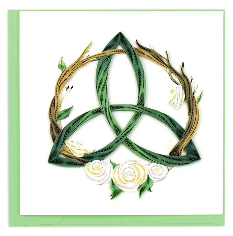 Quilled Celtic Trinity Knot Greeting Card