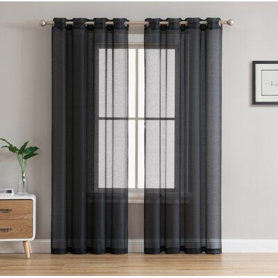 Mercury Row Highlawn Solid Sheer Grommet Curtain Panels Curtains