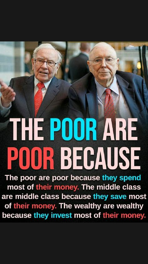 The Poor are Poor Because